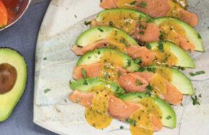 Tiradito de salmon y aguacate receta