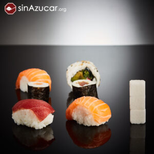 6 piezas de sushi