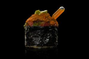 Una de las piezas de sushi del restaurante Yugo The Bunker