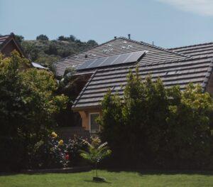 placas solares en una casa