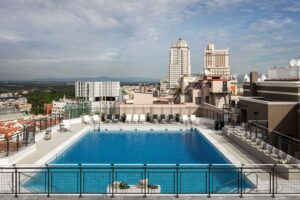 Piscina del hotel Emperador, en Madrid